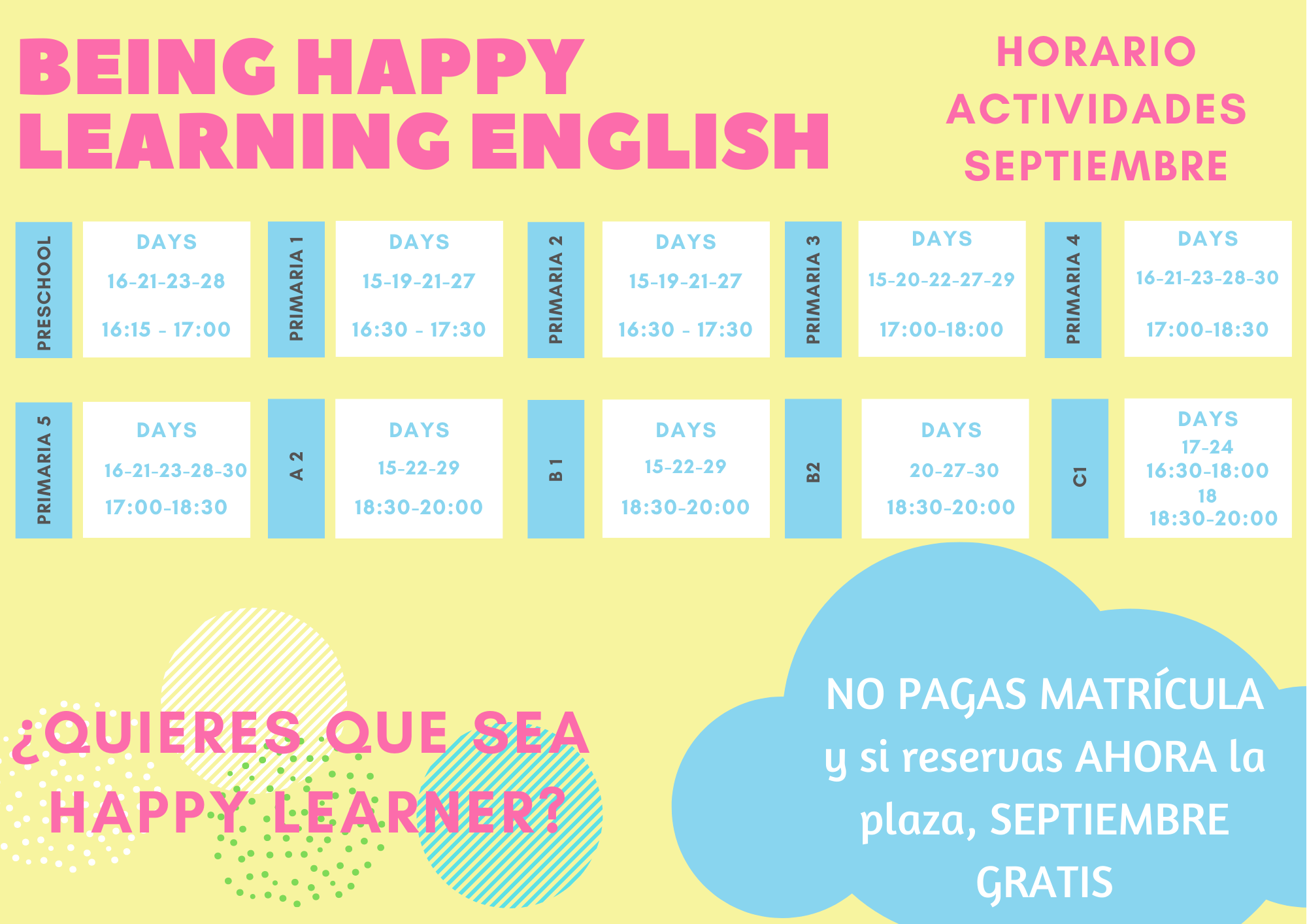 Being Happy Learning English